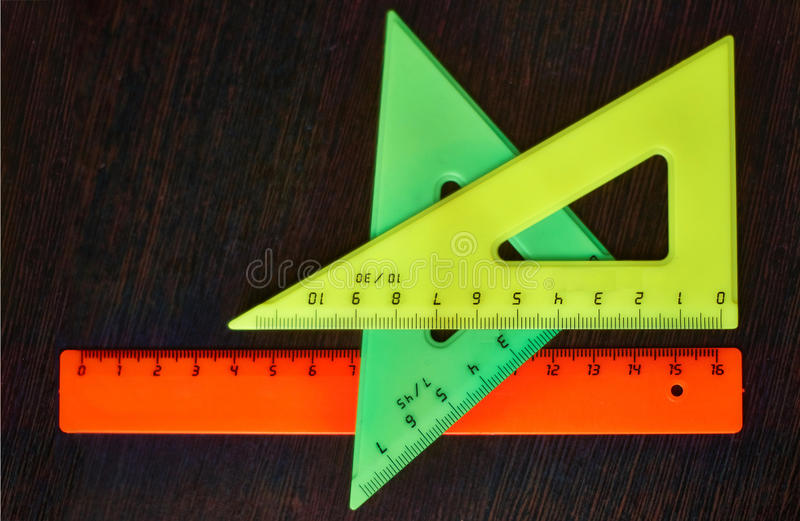Tools pupil geometry for drawing drawings . royalty free stock photography