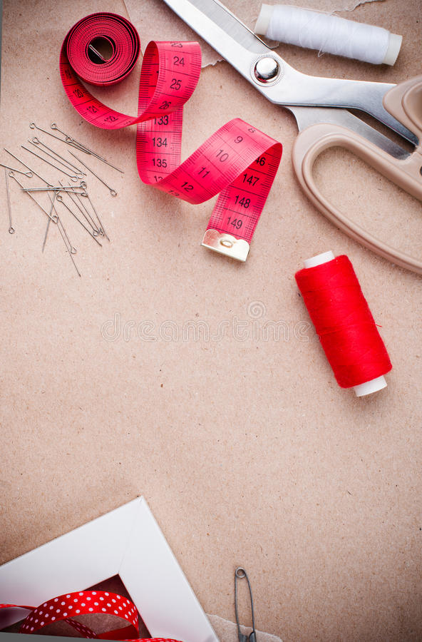 Download Tools For Sewing And Handmade Stock Image - Image of backgrounds, craft: 27013855