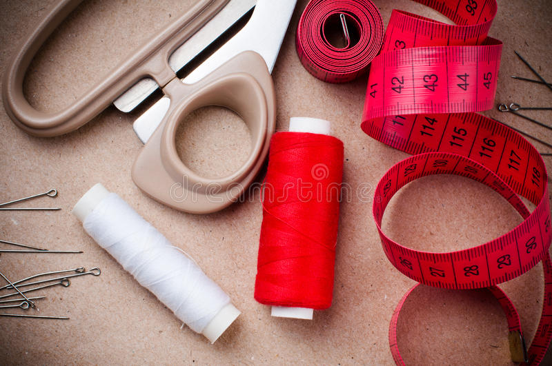 Download Tools For Sewing And Handmade Stock Image - Image of crafty, needlecraft: 27014779