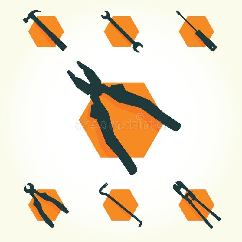 Tools vector icon set vector illustration