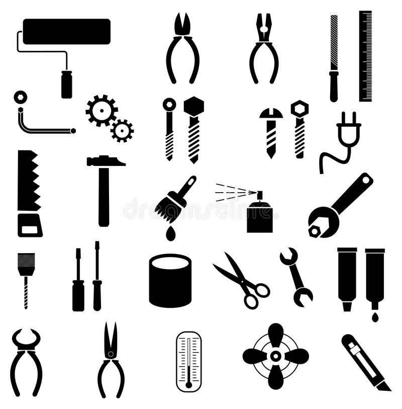 Tools - vector icons royalty free stock photos