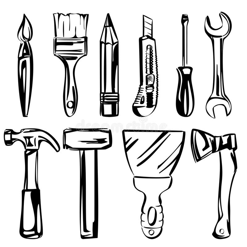 Tools vector set vector illustration
