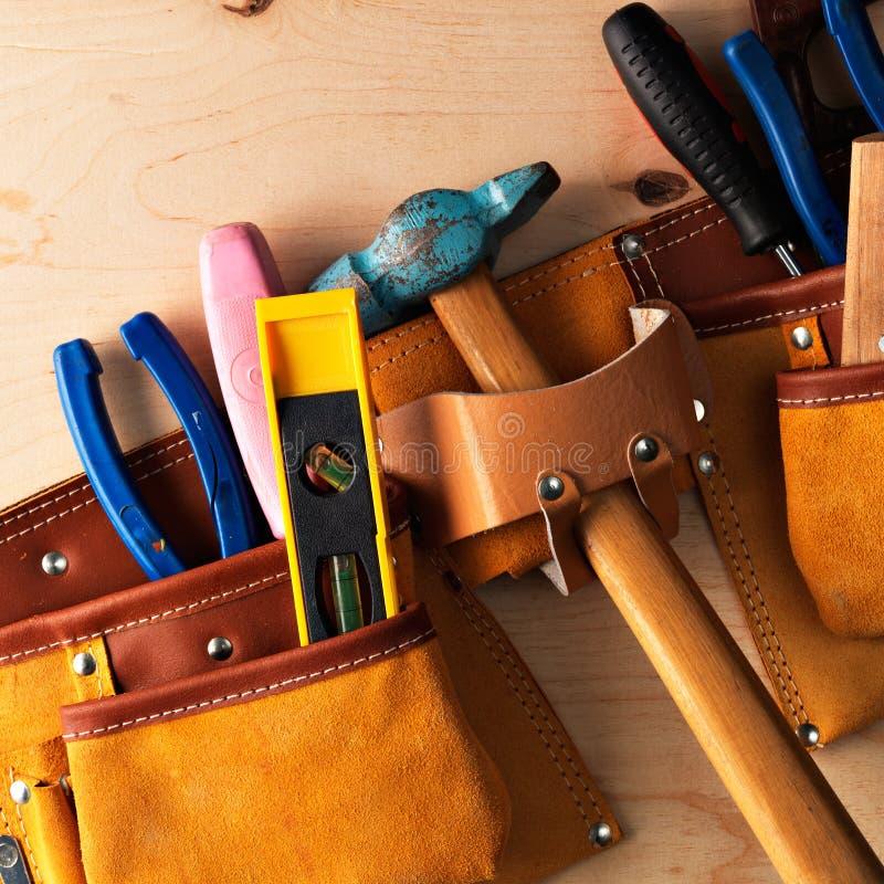 Tools in work-belt stock photo