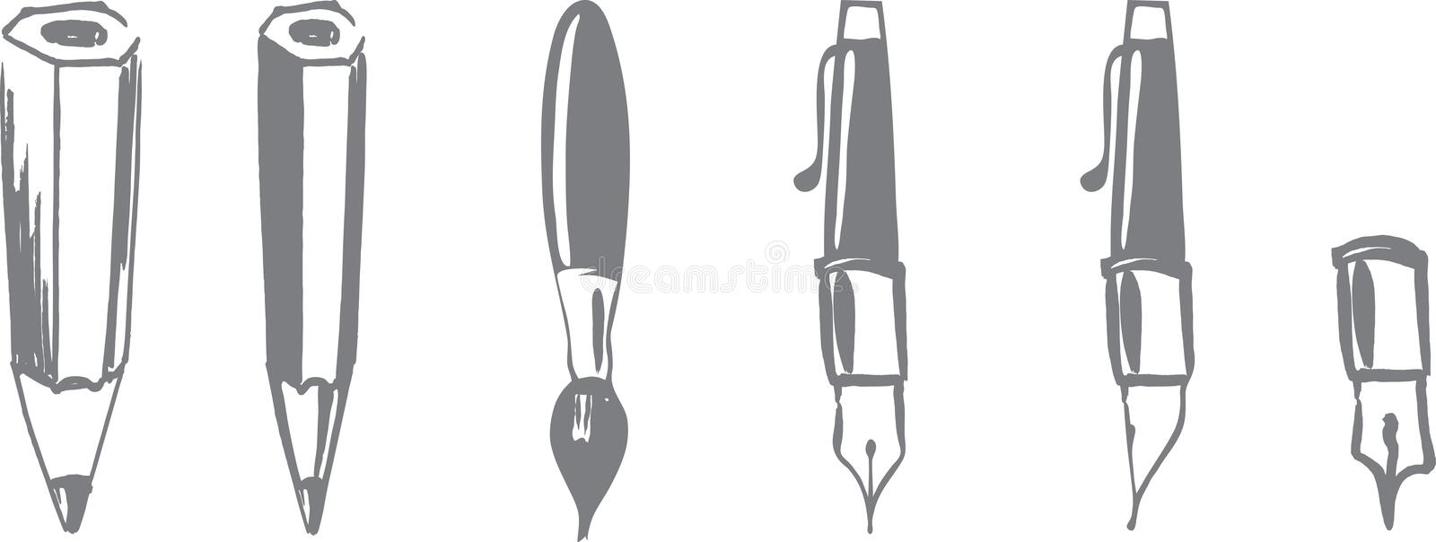 Tools for writing. There are tools for writing vector illustration