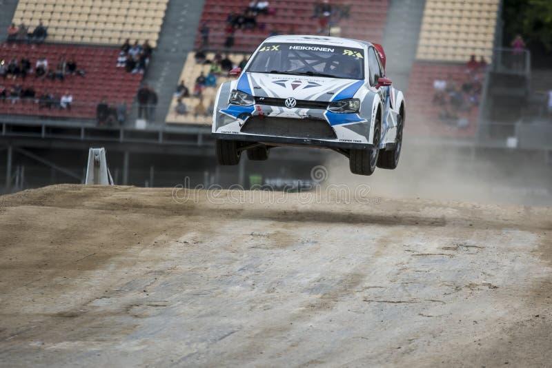 Toomas HEIKKINEN Volkswagen Polo Barcelona FIA World Rallycross stock fotografie