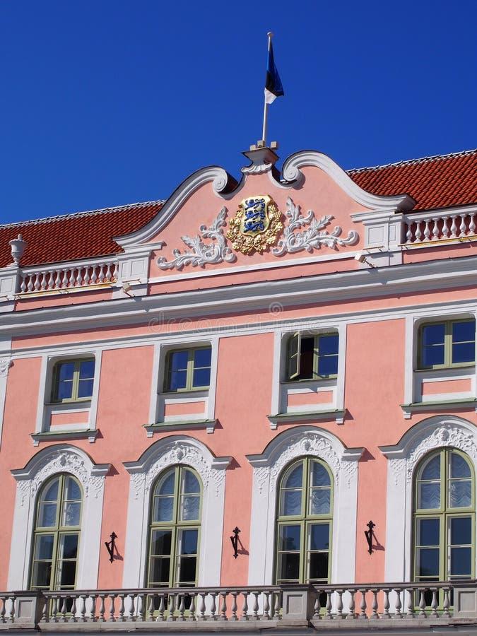 Toompea城堡,塔林,爱沙尼亚 免版税图库摄影