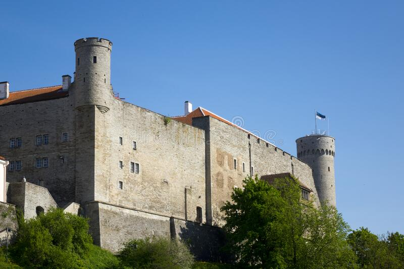 Toompea Castle on Toompea hill. Tallinn, Estonia.  stock photo