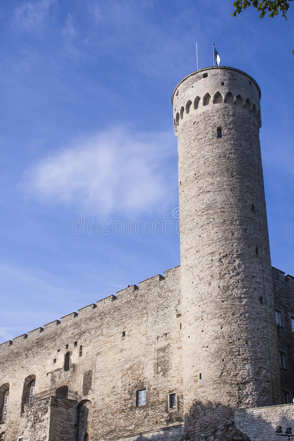 Toompea-Schlossturm Estland lizenzfreie stockbilder