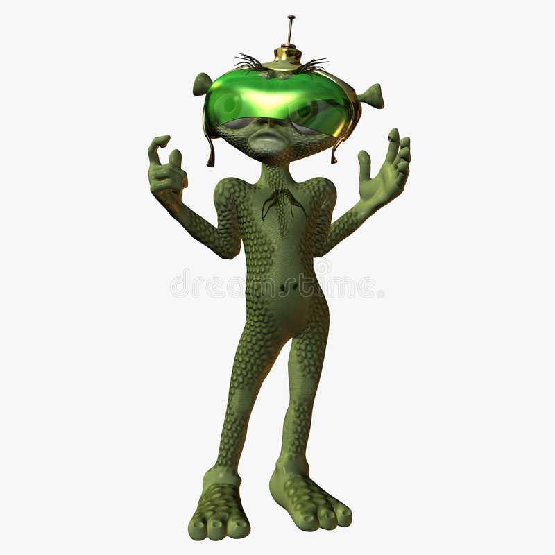 Toon Alien - Unhappy stock illustration