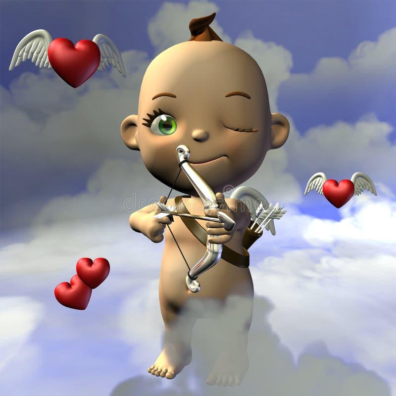 Toon Baby Amor stock illustration