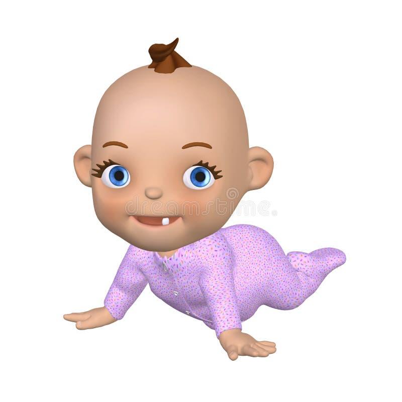 Toon Baby Crawling 2 vector illustratie