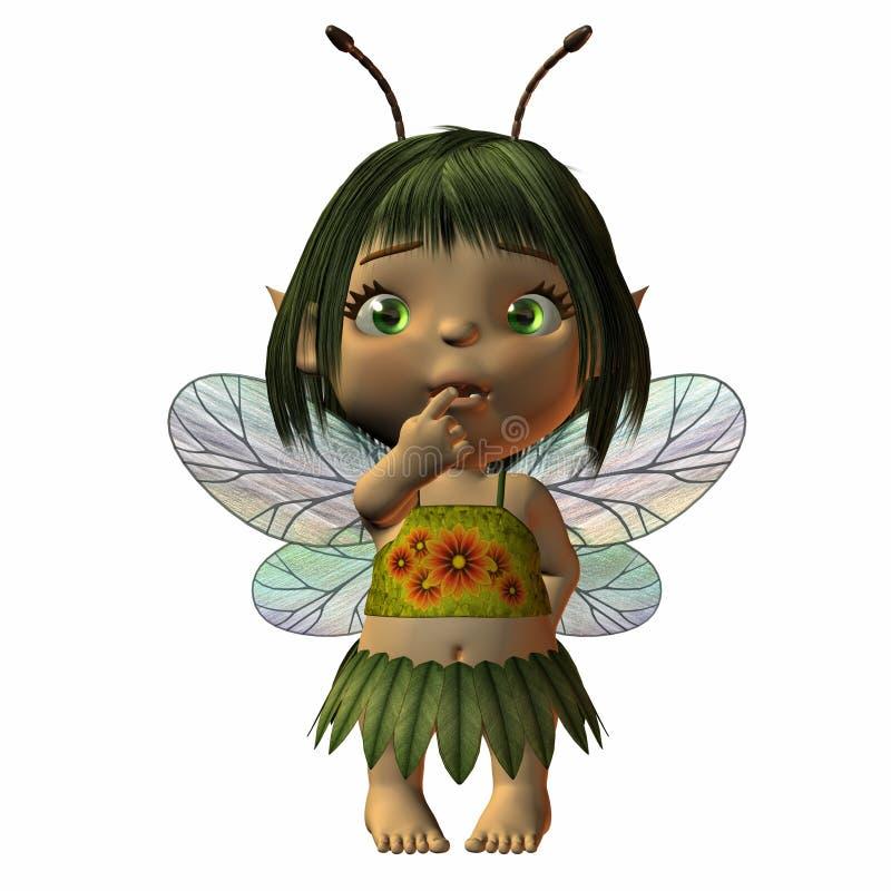 Toon Baby Fairy royalty free illustration