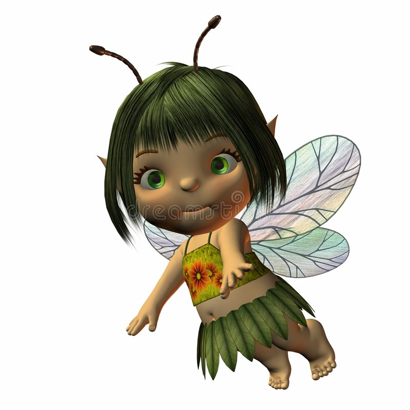 Download Toon Baby Fairy stock illustration. Illustration of character - 1767644