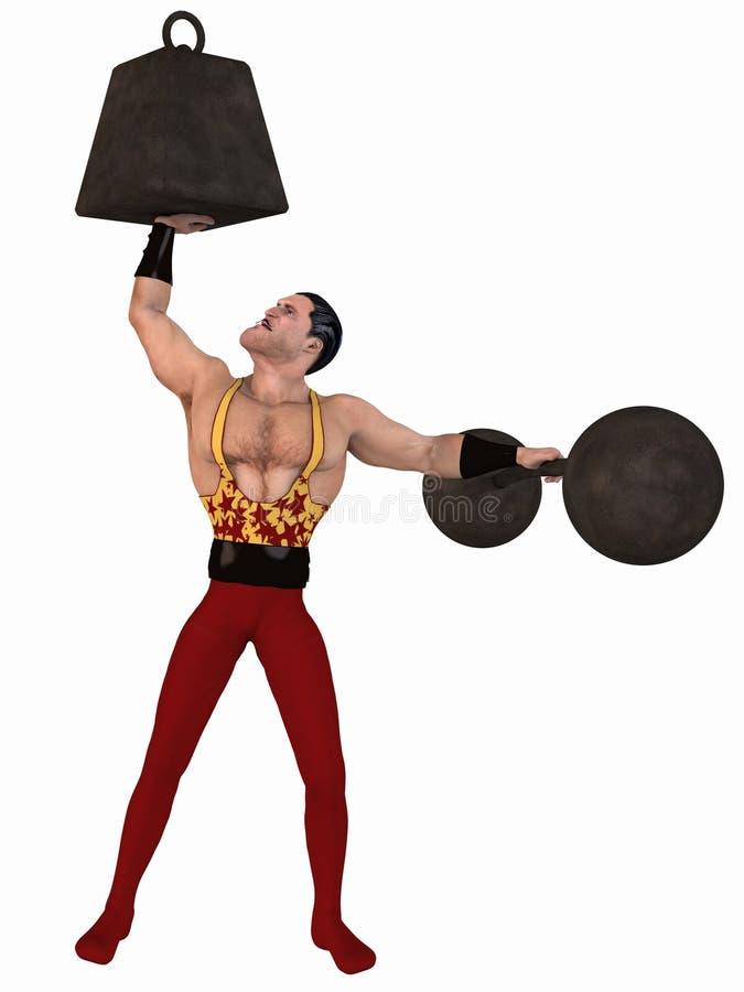 Toon Bodybuilder royalty-vrije illustratie