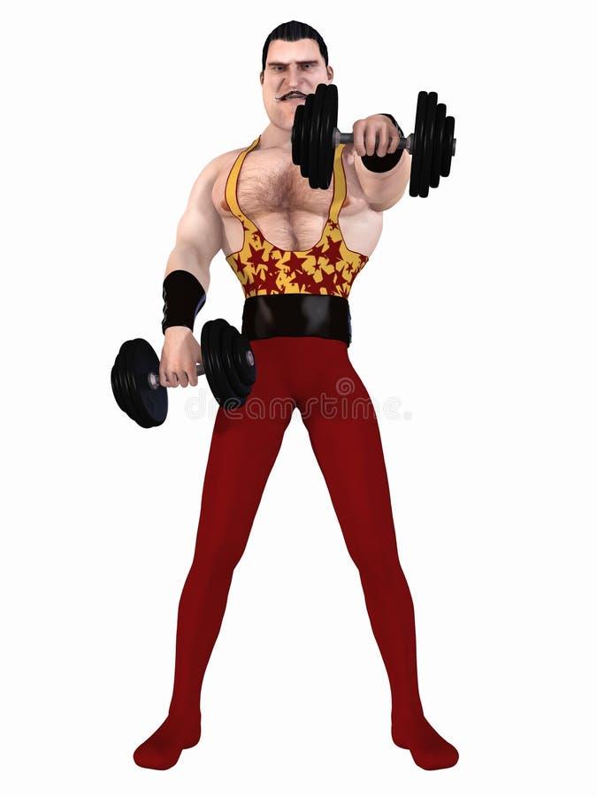 Toon Bodybuilder stock illustratie