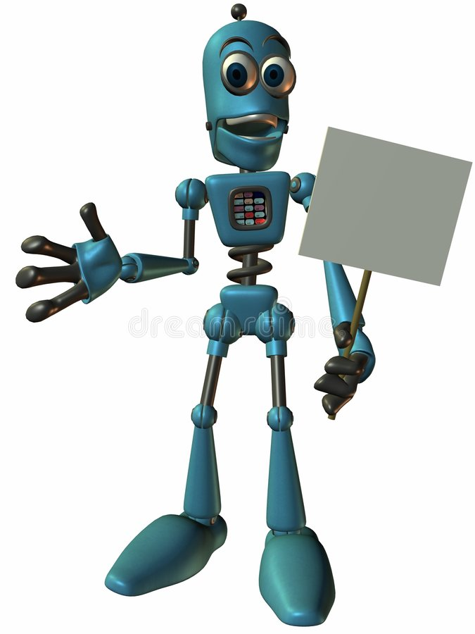 Download Toon Bot Chip-Sign stock illustration. Image of silly - 1705459