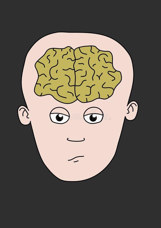 Toon Brain vector illustratie
