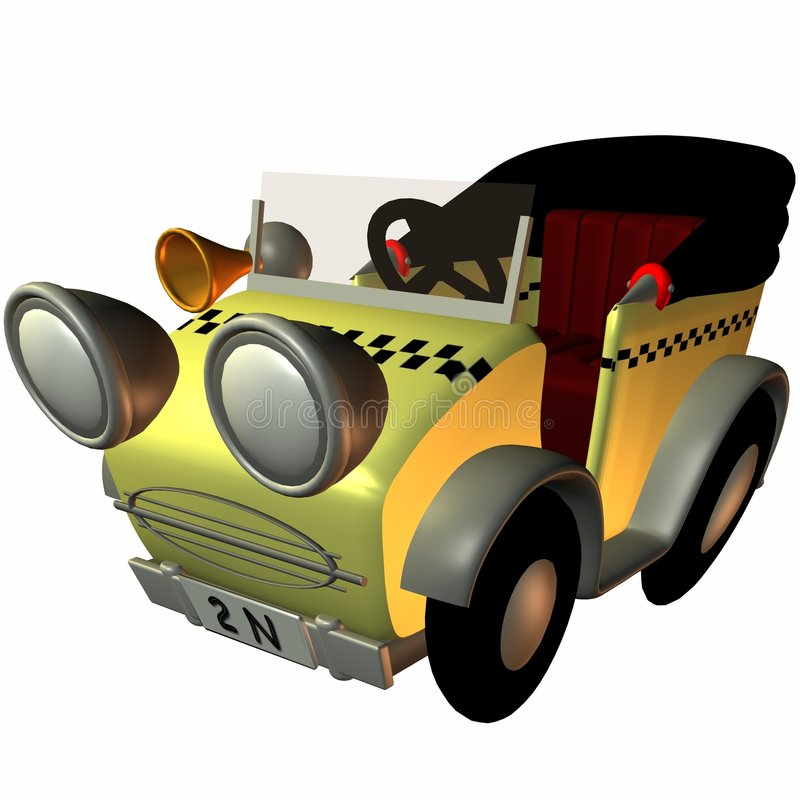 Download Toon Buggy-Taxi stock illustration. Image of poser, render - 1756684