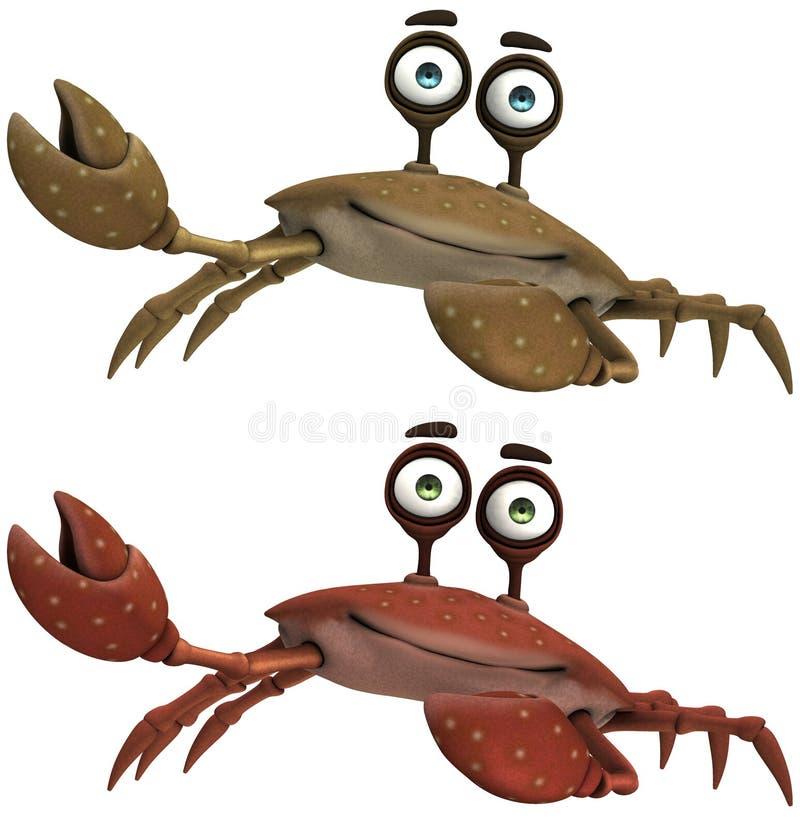 Toon Crab ilustração royalty free