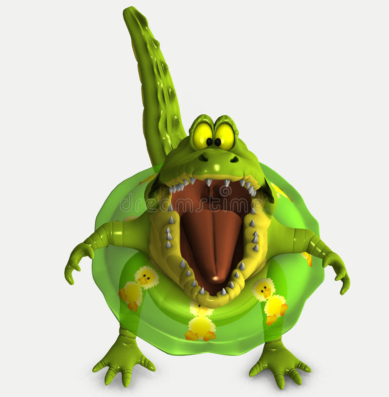 Toon croc vektor abbildung