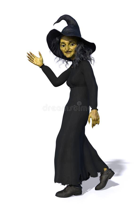 Toon czarownicy falowanie royalty ilustracja