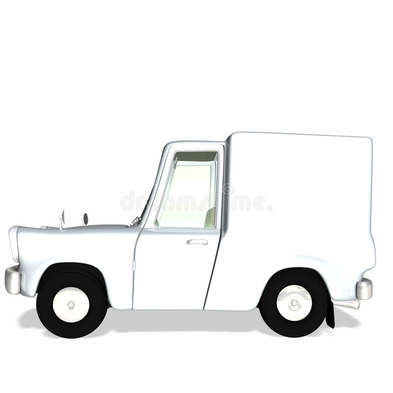 Toon Delivery Cargo Truck 2 vector illustration