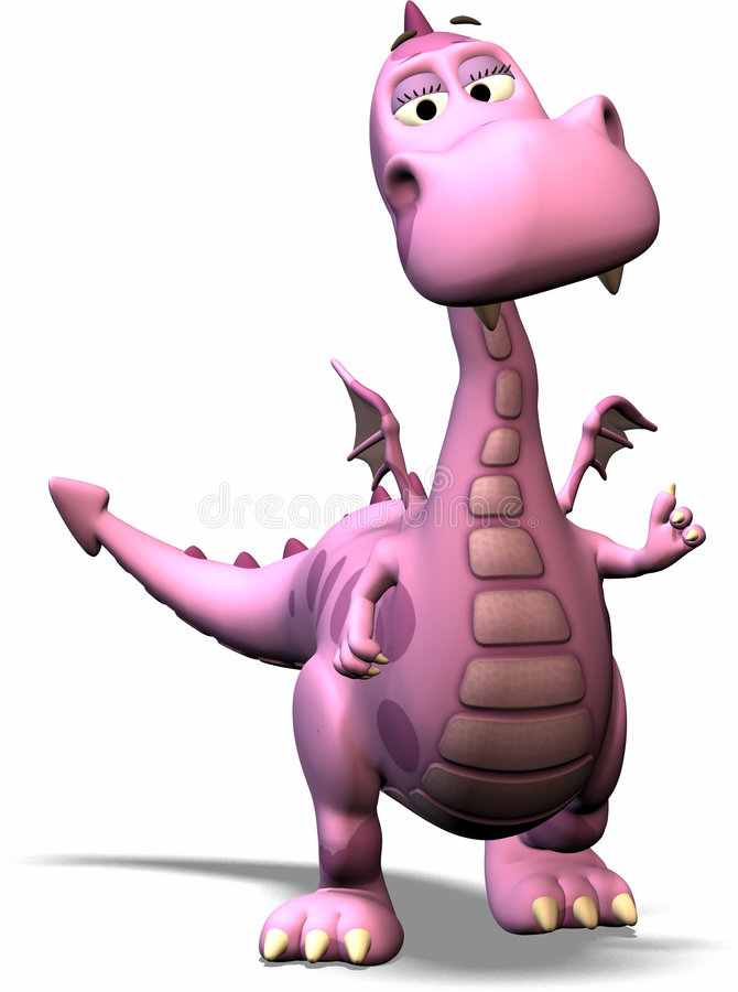 Free Toon Dragon Royalty Free Stock Image - 550526