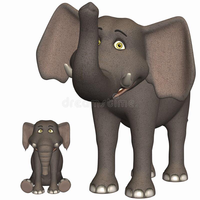 Toon Elephant royalty free illustration