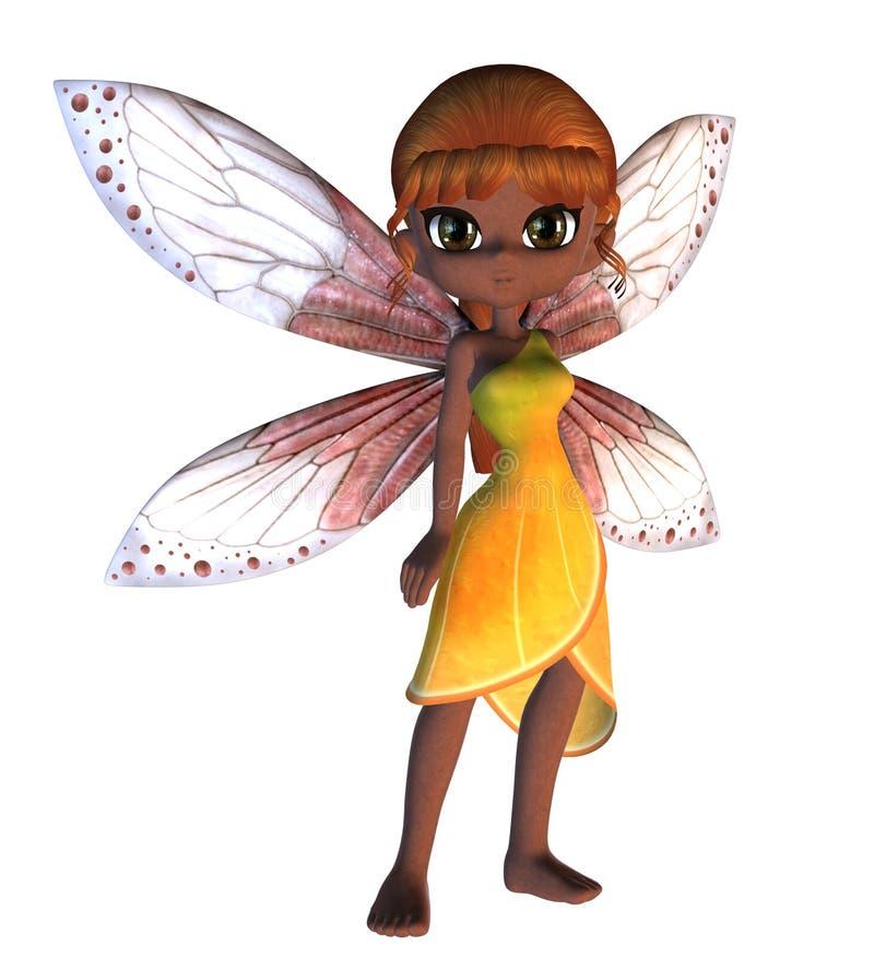 Toon Fairy no vestido amarelo ilustração stock