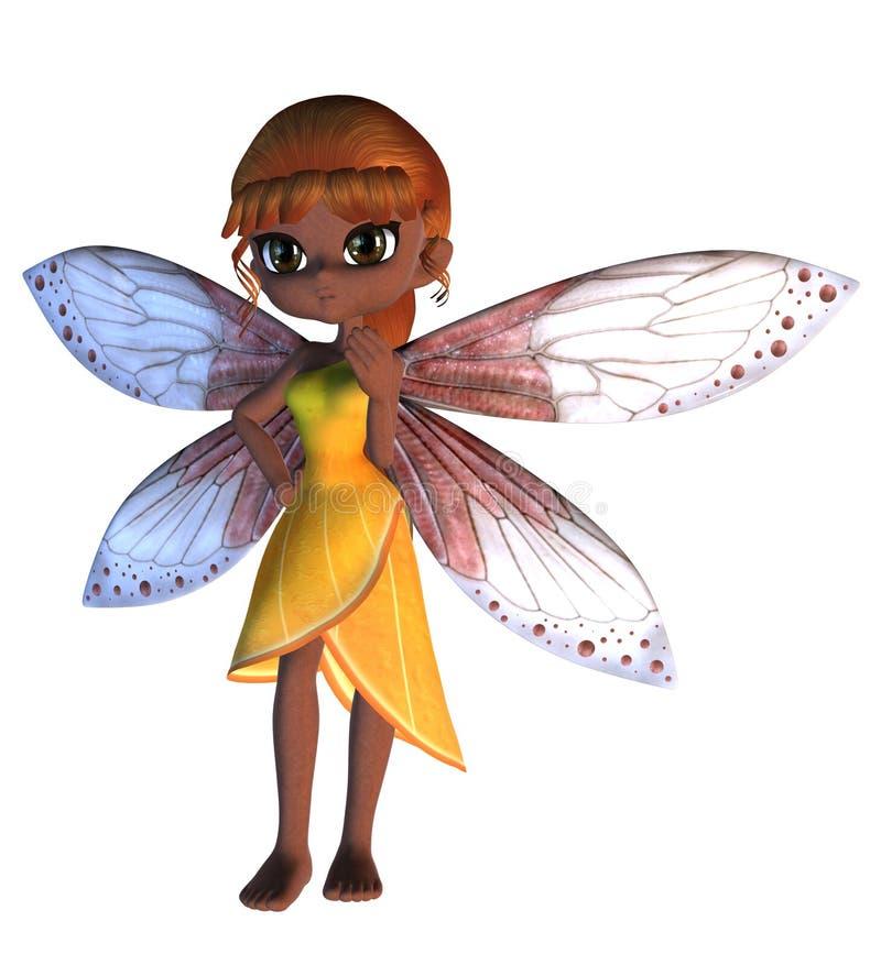Toon Fairy in vestito giallo illustrazione vettoriale