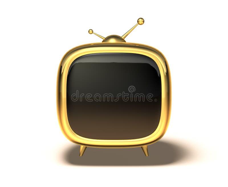 Toon Fernsehapparat stock abbildung
