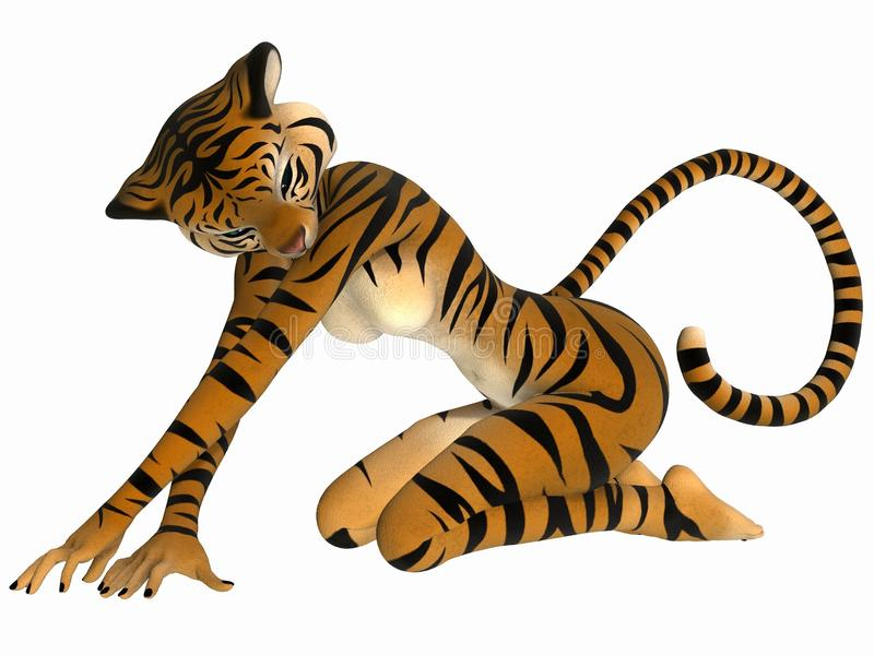 Toon Figure - Tiger Stock Photography