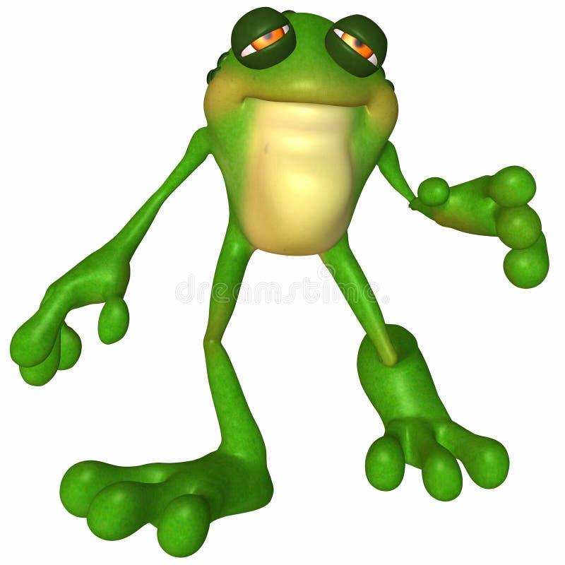 Download Toon Frog stock illustration. Image of beauty, poser, figure - 9229767