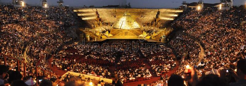 Toon kort voor bij Arena van Verona royalty-vrije stock foto
