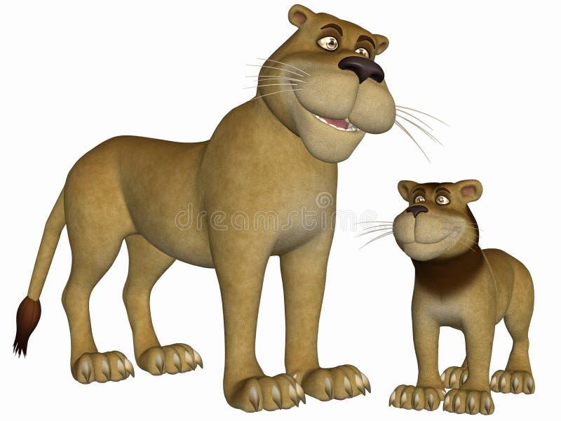 Toon Lion ελεύθερη απεικόνιση δικαιώματος