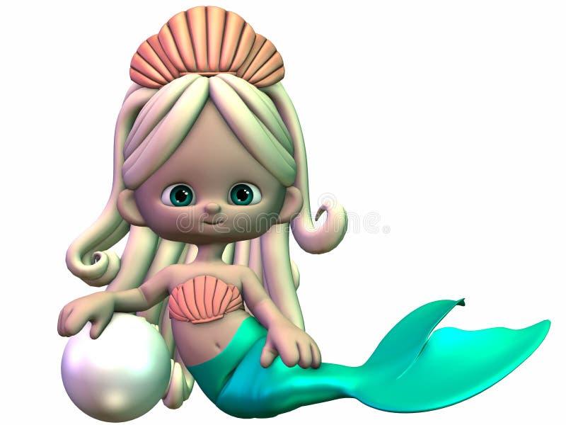 Toon Mermaid stock illustratie