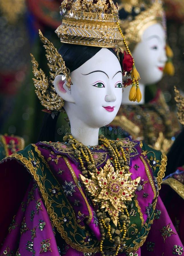 Toon modeldramaheldin voor marionet (marionet) royalty-vrije stock foto