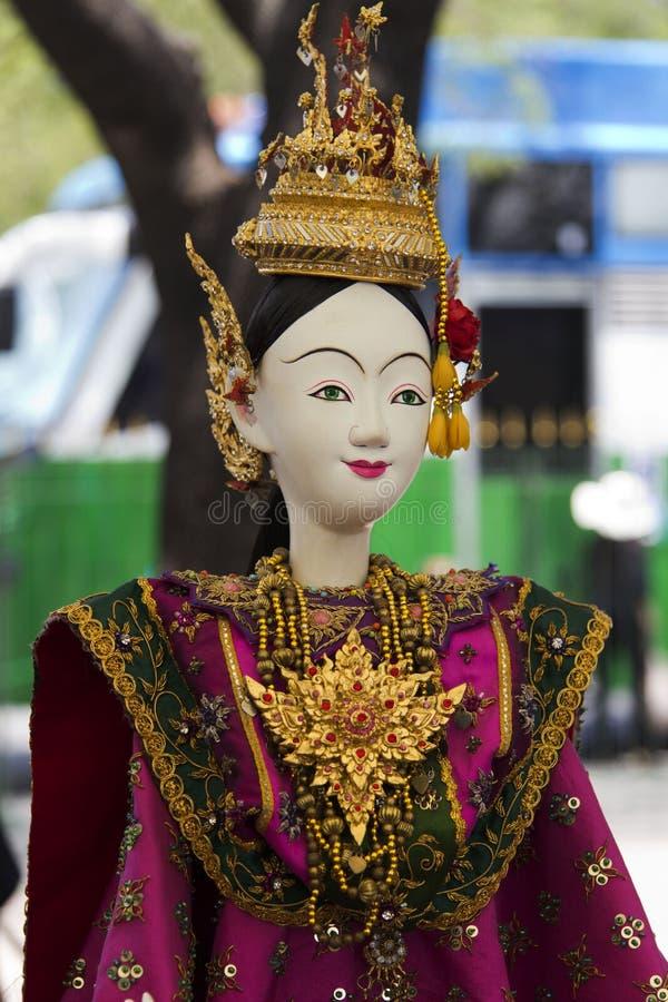 Toon modeldramaheldin voor marionet (marionet) royalty-vrije stock foto's