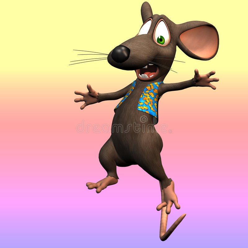 Download Toon mouse stock illustration. Image of over, frighten - 3452582