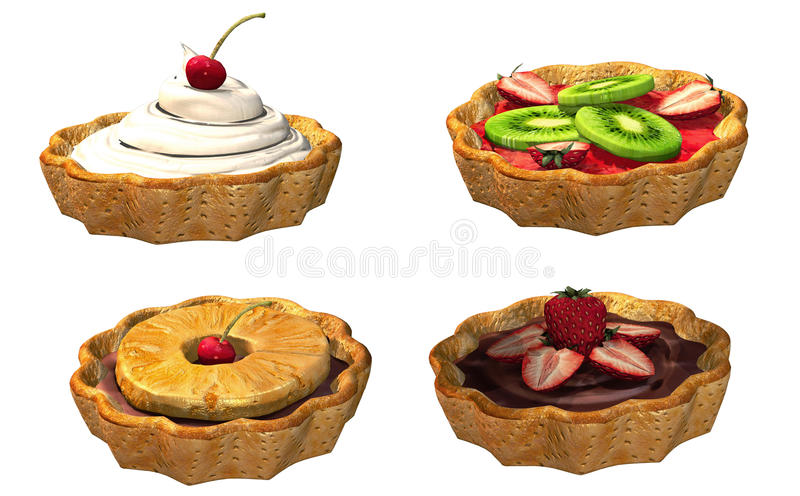 Download Toon pastries stock illustration. Image of illustration - 26394797