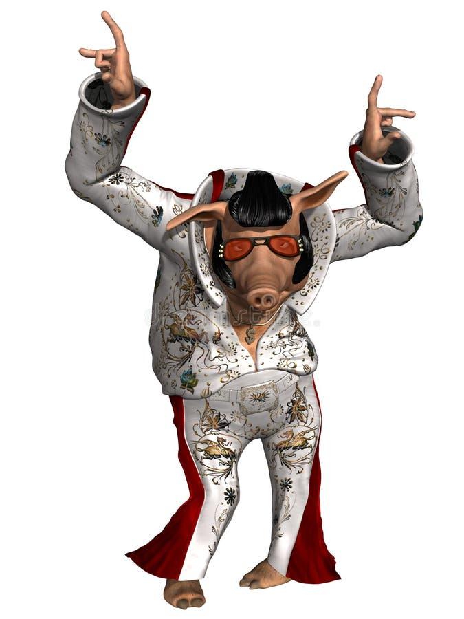 Free Toon Pig - Rock N Roll Stock Photo - 21474350