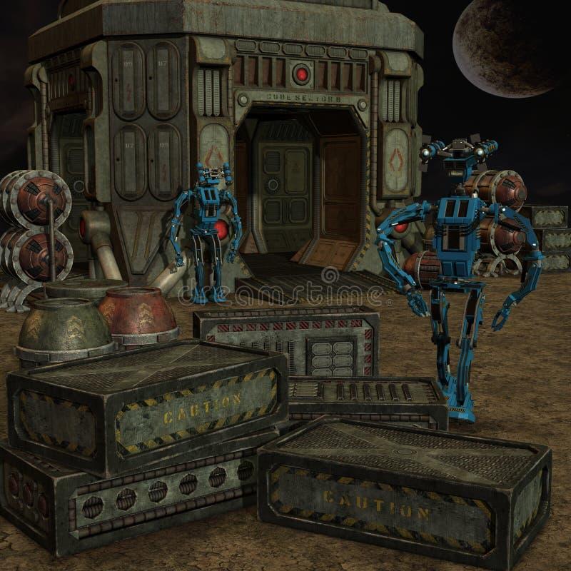 Toon Robot illustration stock