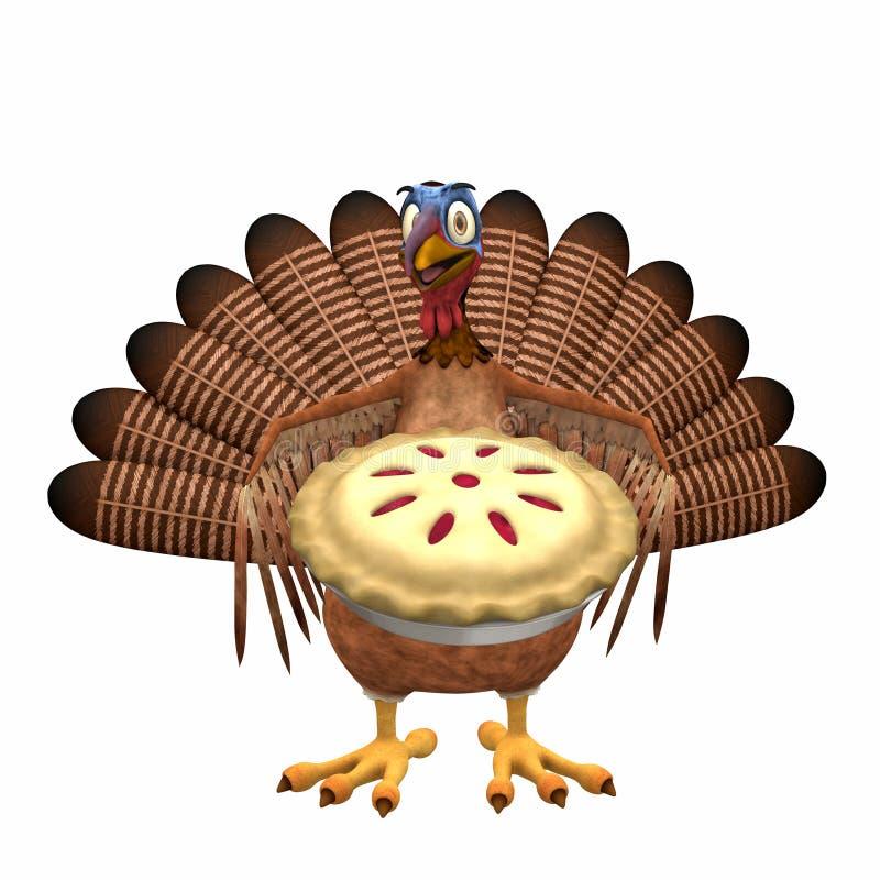Toon Turchia - grafico a torta della ciliegia royalty illustrazione gratis