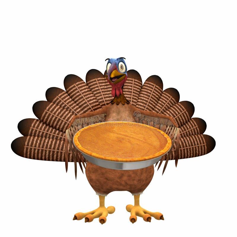 Toon Turchia - grafico a torta di zucca royalty illustrazione gratis