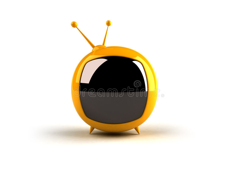 toon tv stock illustrationer