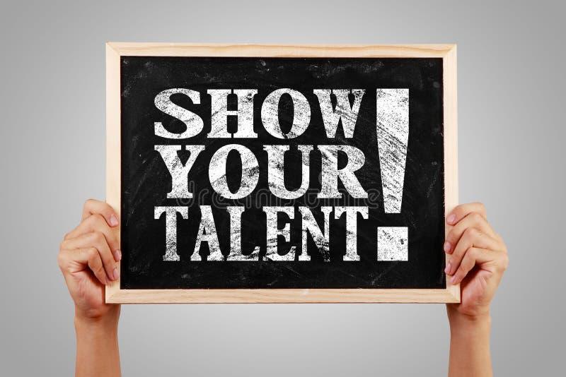 Toon uw talent stock afbeeldingen