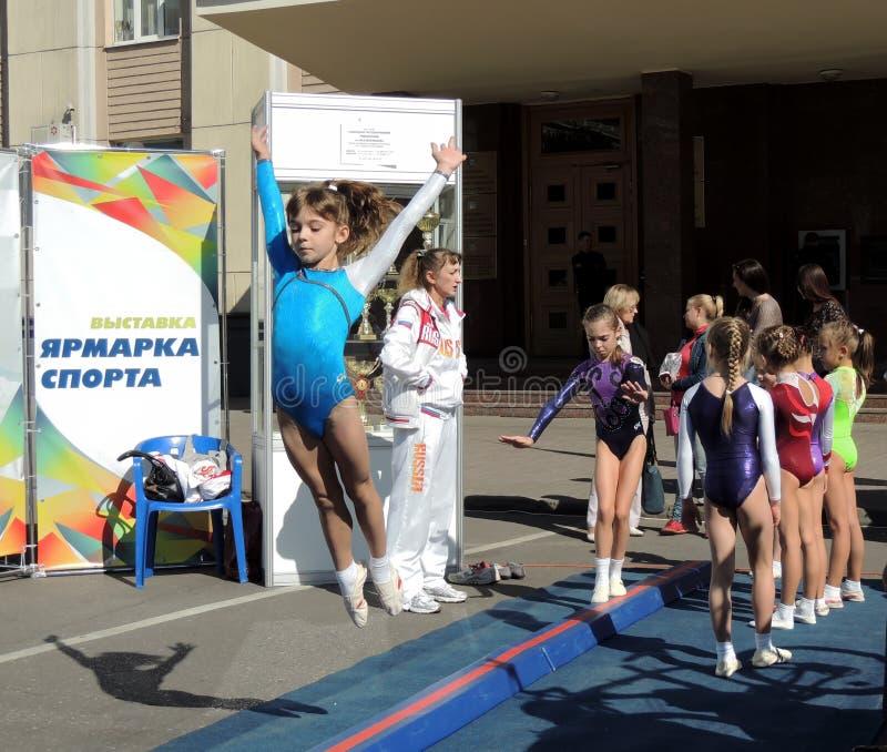 Toon van de school van gymnastieksporten royalty-vrije stock fotografie