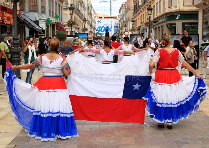 Toon van Folkloristische groep van Paraquay, Malaga royalty-vrije stock afbeeldingen