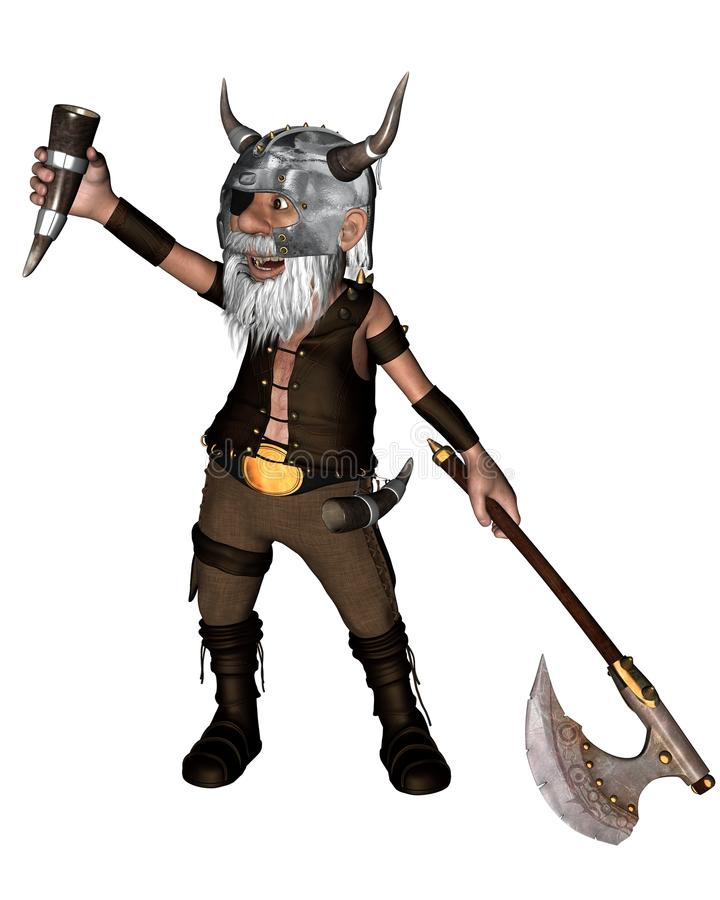 Download Toon Viking Dwarf With Axe - 1 Stock Illustration - Image: 19732331