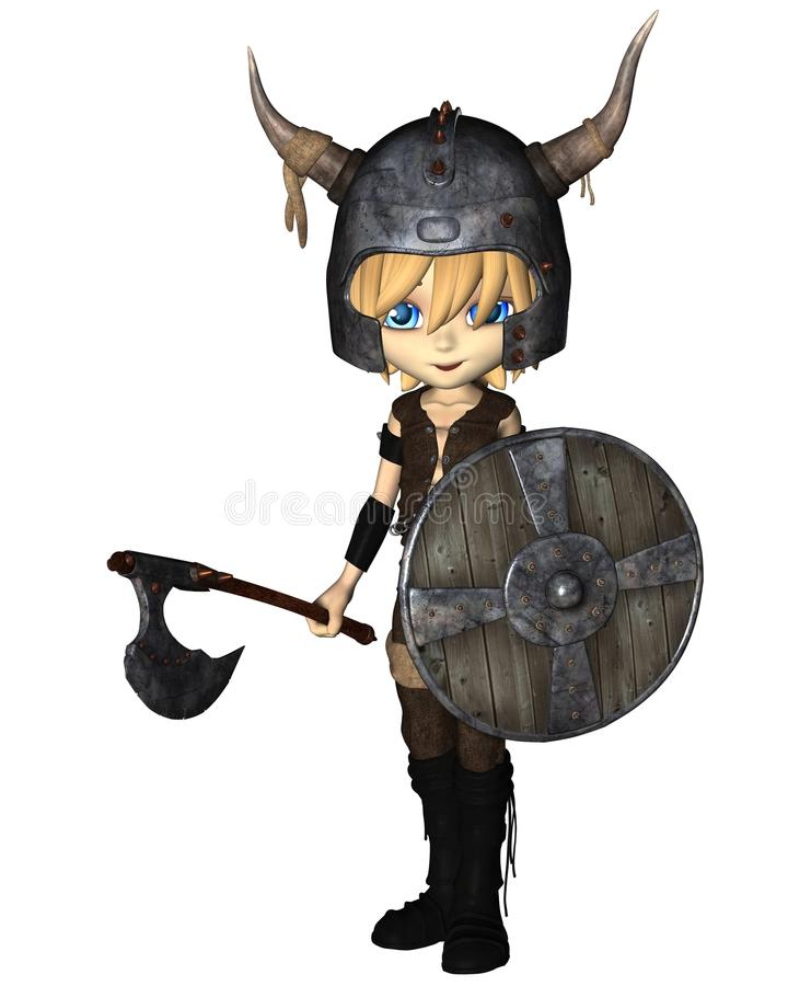 Download Toon Viking Warrior Boy stock illustration. Illustration of horned - 28915807